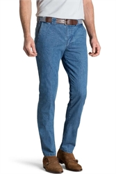 MEYER OSLO SUMMER DENIM SS-chinos-Digbys Menswear