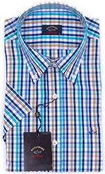 PAUL & SHARK S/S SHIRT-shirts short sleeve-Digbys Menswear