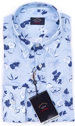 PAUL & SHARK L/S  LINEN SHIRT-shirts long sleeve-Digbys Menswear